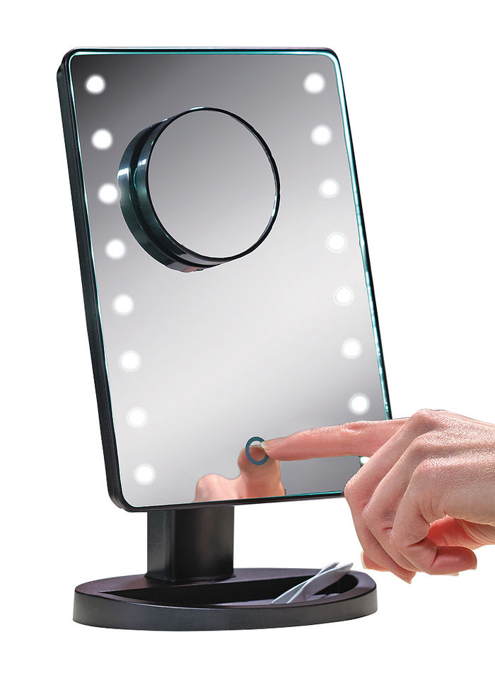 Touchscreen LED Magnifying Mirror