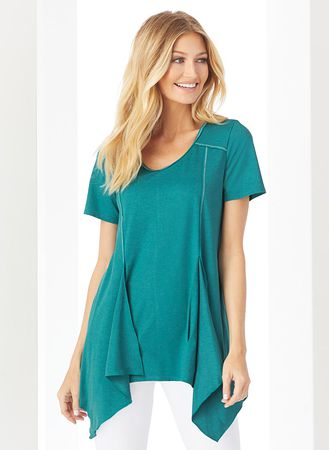 Main Contrast Stitch Tunic