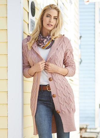 Main Cable-Knit Cardigan