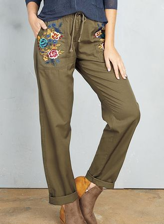 Main Embroidered Cargo Pants