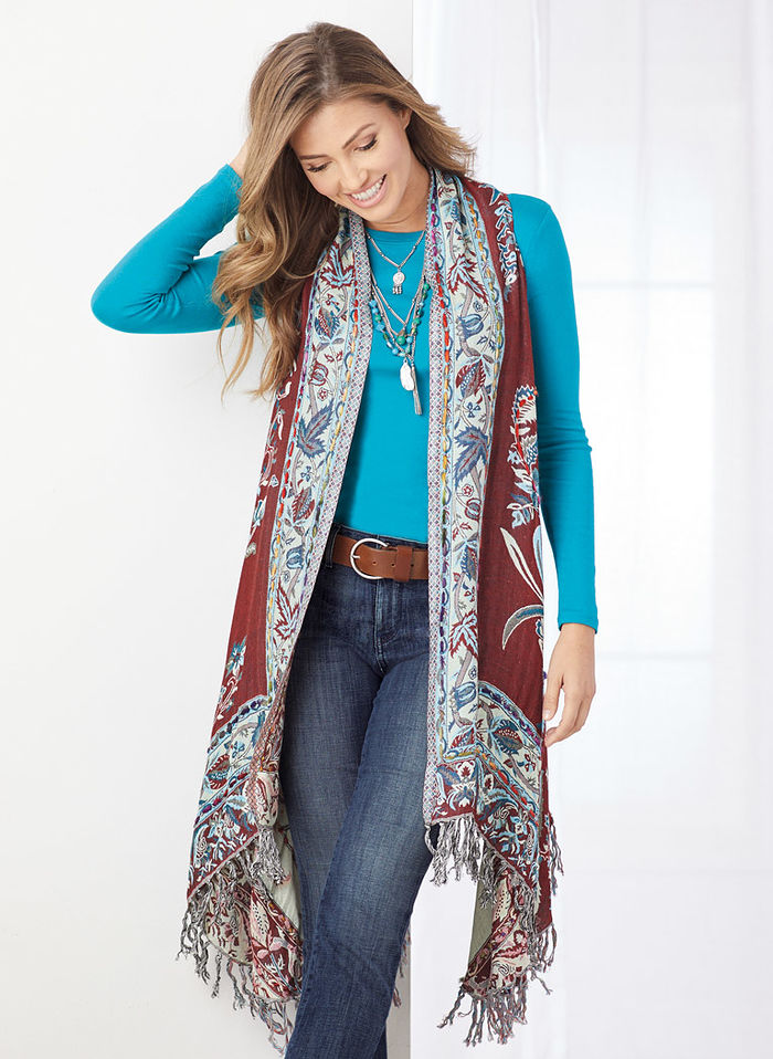 Teal Thick-Stitch Vest