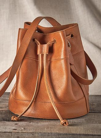 Main Leather Bucket Bag