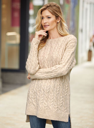 Main Cable Knit Pullover Sweater